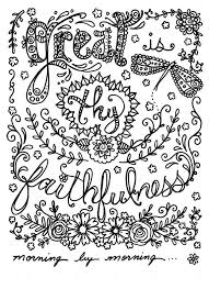 Hymn Spirations Coloring Book Page Prayer Inspirational Spiritual Colouring