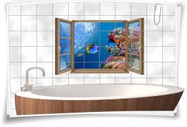 fliesen aufkleber fliesen bild fenster unterwasser welt fische riff see muscheln bad wc aufkleber folie deko