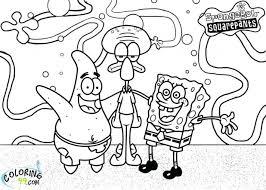 Sponge Bob Coloring Pages Spongebob Pictures Free 4u Nick Jr