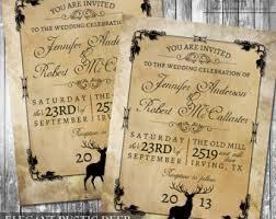 Rustic Woodland Wedding Invitation Deer Wood Fall Hunter Digital Outdoor Invite File Kraft