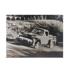 LED Lighted Older Model Ford Truck Canvas Wall Art 12
