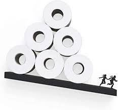 toilettenpapier aufbewahrung lawinenregal für toilettenpapierrollen badezimmer zubehör schwarzes toilettenpapier regal einzigartige