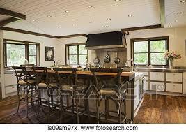 modernes inneneinrichtung luxus landhausstil küche mit
