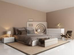 fototapete moderne braune hotel luxus schlafzimmer mit beige bank