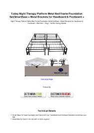Bed Frame With Headboard And Footboard Brackets by Today Night Therapy Platform Metal Bed Frame Foundation Setsmartbase U2026
