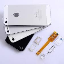 50pcs Dual 2 SIM Card slot Adapter for iPhone 6 6 plus 5 5S 5C