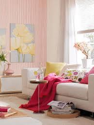 wandgestaltung mit beige und pink rosa wohnzimmer rosa