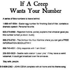 Yo I m gonna start giving people the Cena phone number