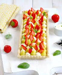dessert aux fraises tarte fraises crémeux citron et basilic épices moi