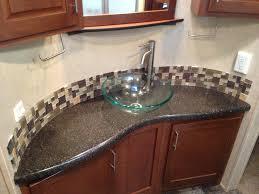 Bathroom Vanity Tops With Sink by Bathroom Curvy Grey Granite Bathroom Vanity Countertops For Glass