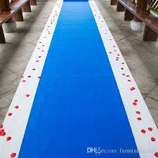 20 Meters Roll Royal Blue Wedding Theme Nonwoven Fabric Carpet Aisle Runner For Party Decoration Supplies Burgundy Decorations Diy