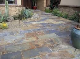 Slate patio tiles floor for traditional outdoor patio flooring