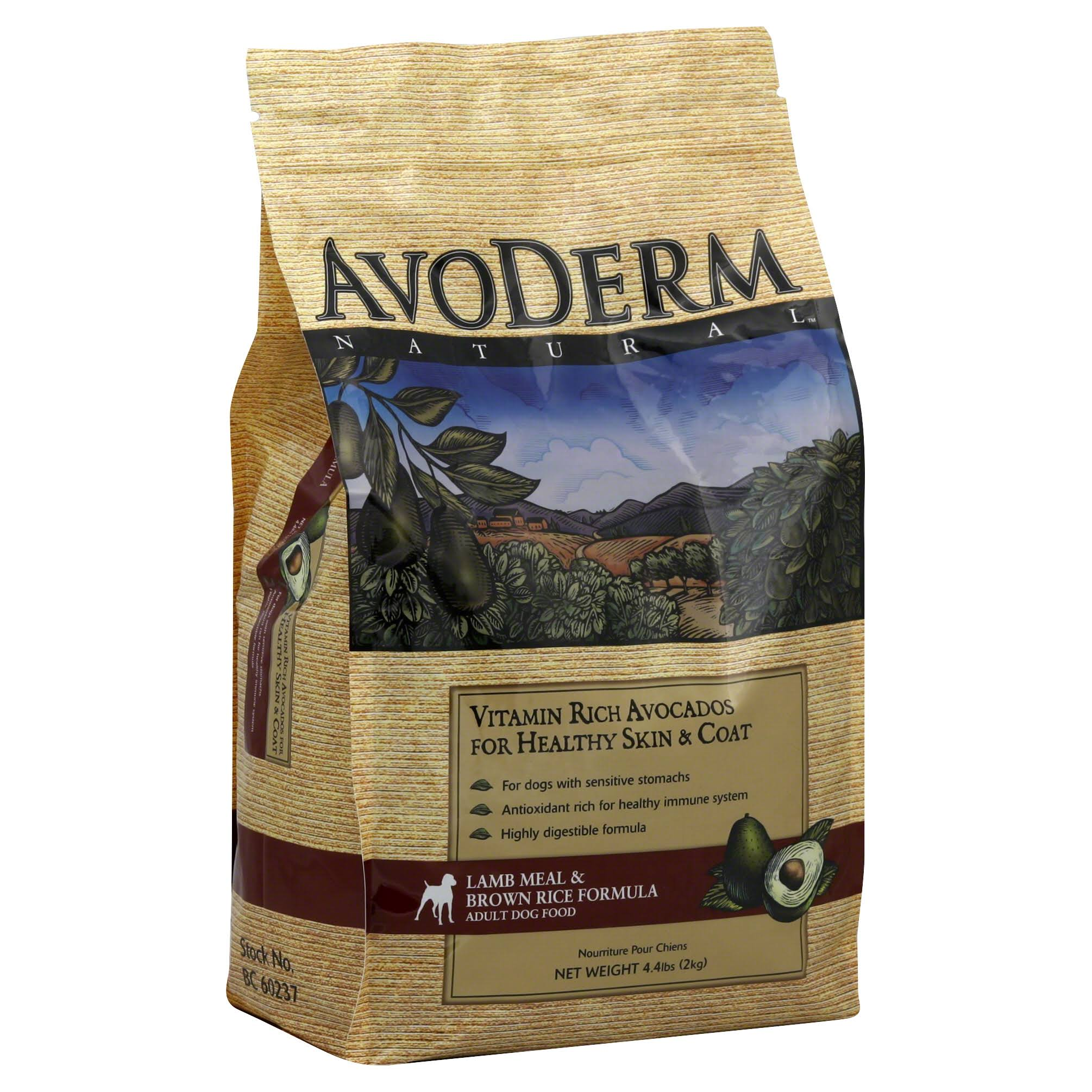 AvoDerm Natural Lamb Meal and Brown Rice Formula Adult Dog Food - 4.4lb