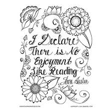Jane Austen Quote Coloring Page