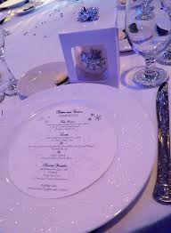 Simple Beautiful Place Setting For The Guests At This Winter Wonderland Wedding Grand Marquis