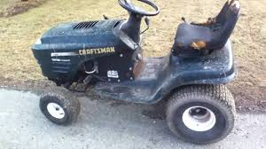 Craftsman Lt1000 Drive Belt Size by Craftsman Lt1000 First Attempt At A Racing Mower Youtube