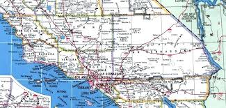 Road Map Southern Pacific Coast Highway California