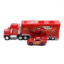 100 Lightning Mcqueen Truck Disney Pixar Cars 2 McQueen No95 Mack 1 55 Diecast