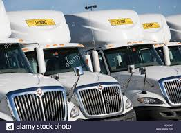 J.B. Hunt Transport Services, Inc., Logo Signs On Semi-trucks In ...