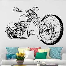 harley motorrad wand kunst aufkleber poster für wohnzimmer