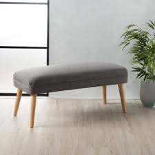Narrow Upholstered Bench Wayfair With Additional Cozy Sofa Wall