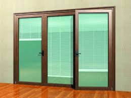 Interior Sliding Glass Doors Lowes With Mini Blind And Black