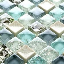 Color For Bathroom Tiles by Mini 15 15mm Blue Color Crystal Glass Mosaic Tiles For Bathroom