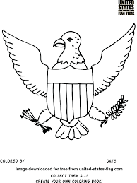 American Flag Coloring Book Eagle 30