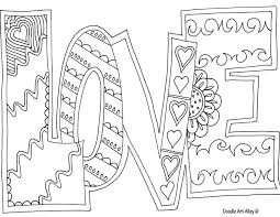 Quote Coloring Pages Of Love
