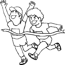 Running Race Coloring Page