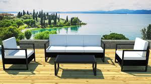 canapé de jardin design salon de jardin bas alu