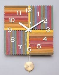 Id Love A Popsicle Stick Clock Like This For My Future Art Studio Or Ice Cream CraftPopsicle
