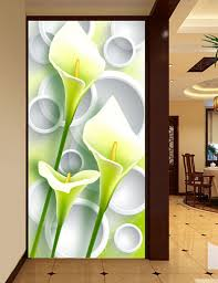 Luxury Best Silk HD 3D Calla Flower Large Murals Wall Painting Home Decoration Art Picture On Prints 100X200CM