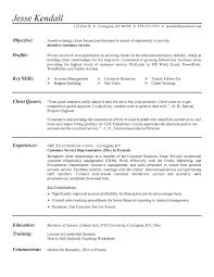 Resume For Financial Customer Service Representative