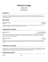Select Template A Sample Of Large Resume