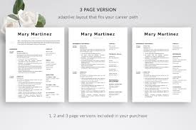 Modern Resume Template And Cover Letter Template