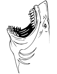 Jaws Shark Coloring Page