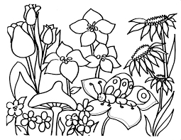 Coloring Pages Spring Flowers For Preschool