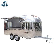 100 Airstream Food Truck For Sale Shiny Stainless Steel China Supply Produce For