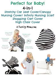 4 In 1 Stretchy Car Seat Cover, Nursing Cover, Shopping Cart ...