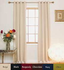 120 Inch Linen Curtain Panels by Amazon Com Beige Nickel Grommet Top Energy Saving Thermal
