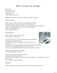 Manufacturing Technician Resume Sample Electronic Examples Cover Letter Test Electro