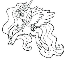 My Little Pony Coloring Pages Rarity For