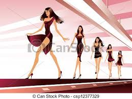 Fashion Clipart Runway Model 2