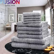 Sunflower Bath Towel Set by Luxury Towel Bale Set 100 Egyptian Cotton 10pc Face Hand Bath