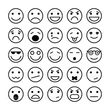 Emotion Faces Coloring Pages Page Cute Smiley Face Funny Projects Idea