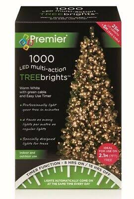 Premier 1000 LED Multi Action TreeBrights with Timer - Warm White