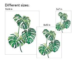monstera leaf print monstera plant print monstera deliciosa print monstera watercolor print monstera leaf decor monstera plant decor