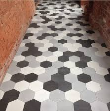 Faux Marble Hexagon Floor Tile by Hexagonal Terazzo Cement Tiles Are Here Kitchen Floors Tile