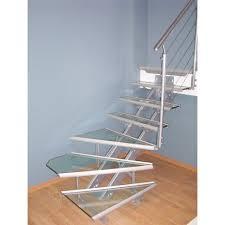 escalier 2 quart tournant leroy merlin escalier quart tournant escatwin structure aluminium marche verre